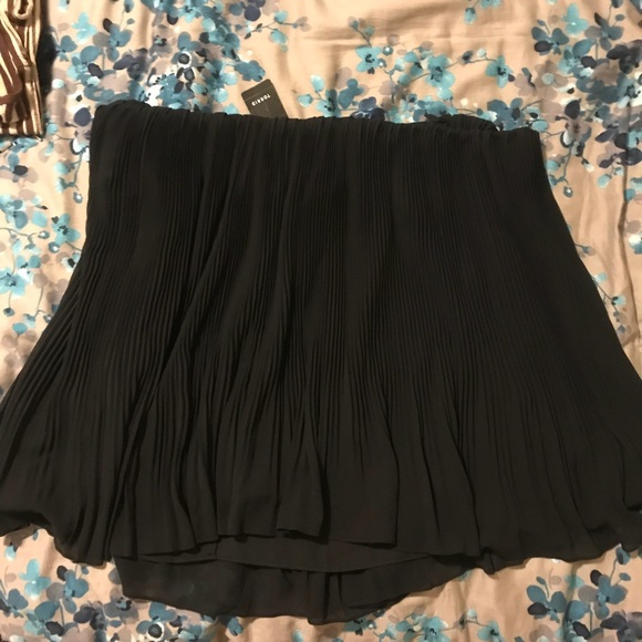 b1383afcbcb Torrid Black Pleated Chiffon Mini Skirt